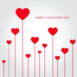 Happy Valentine's Day. Card of Valentine's Day with many hearts Stock Image