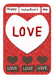 Happy valentine's day card, paper art Royalty Free Stock Photos