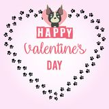 Happy Valentine`s Day - Card Royalty Free Stock Image