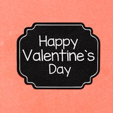 Happy Valentine's day card Stock Image