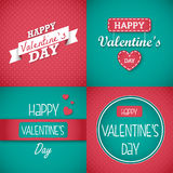 Happy Valentine's Day Card set. Set of Valentine's day greeting cards. The element are  and colors editable Royalty Free Stock Image