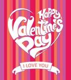 Happy Valentine's day card. Royalty Free Stock Photos