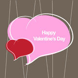 Happy valentine's day. Card use any size Royalty Free Stock Photography