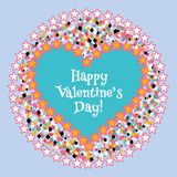 Happy Valentine's day card. Vector Stock Images
