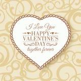Happy Valentine's Day - card. Royalty Free Stock Photos