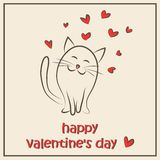 Happy Valentine`s Day. Card. Vector illustration Royalty Free Stock Photography