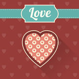 Happy Valentine`s Day card Stock Image