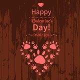 Happy Valentine's Day card Royalty Free Stock Photos