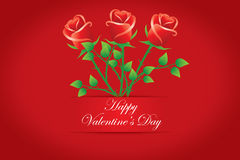 Happy Valentine's day cards. Bouquet of red roses. Vectors Royalty Free Stock Images
