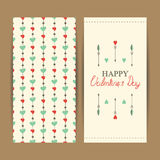 Happy valentine's day cards with hearts Stock Photo