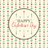 Happy valentine's day cards with hearts Royalty Free Stock Photos