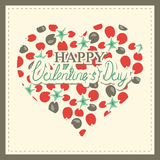 Happy valentine's day cards with hearts. And arrows Stock Photos