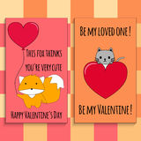 Happy Valentine`s Day cards Royalty Free Stock Photography