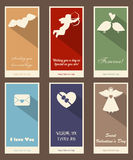 Happy Valentine's Day Cards Stock Images