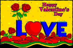 Happy Valentine's Day celebration background Stock Photos