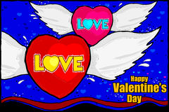 Happy Valentine's Day celebration background Stock Photography