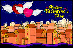 Happy Valentine's Day celebration background Stock Image