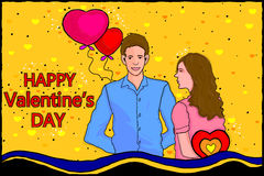 Happy Valentine's Day celebration background Stock Images
