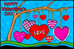 Happy Valentine's Day celebration background Royalty Free Stock Images