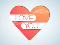 Happy Valentines Day celebration with beautiful heart. Royalty Free Stock Image