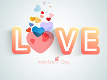 Happy Valentines Day celebration with colorful hearts. Royalty Free Stock Images