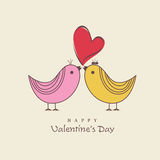 Happy Valentine's Day celebration with cute love bird. Stock Photos