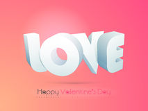 Happy Valentines Day celebration with 3D text. Royalty Free Stock Photography