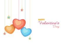 Happy Valentine's Day celebration greeting card. Royalty Free Stock Photos
