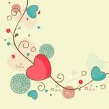 Happy Valentine's Day celebration greeting card. Royalty Free Stock Photo