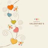 Happy Valentines Day celebration greeting card design. Stock Photo