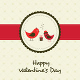 Happy Valentines Day celebration greeting card. Royalty Free Stock Image
