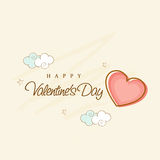 Happy Valentine's Day celebration greeting card design. Stock Photography
