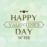 Happy Valentines Day celebration greeting card design. 14th Feb, Happy Valentines Day celebration love greeting card with hearts on shiny background Royalty Free Stock Photos
