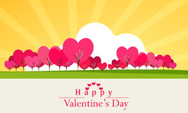 Happy Valentines Day celebration greeting card. Royalty Free Stock Images