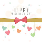 Happy Valentines Day celebration greeting card. Stock Photos