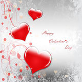 Happy Valentine`s Day celebration. Greeting card with stylish text vector illustration