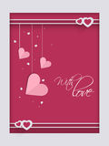 Happy Valentines Day celebration greeting or love card. Stock Images