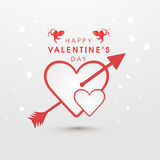 Happy Valentine's Day celebration with heart and arrow. Stock Photo