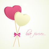 Happy Valentines Day celebration love greeting card. Royalty Free Stock Image