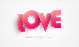 Happy Valentine's Day celebration with Love text. Stock Photography