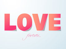 Happy Valentines Day celebration with love text. Stock Photo
