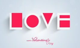 Happy Valentines Day celebration with paper text. Stock Image