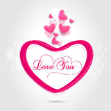 Happy Valentines Day celebration with pink hearts. Royalty Free Stock Image