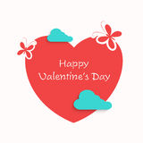 Happy Valentine's Day celebration with red heart. Royalty Free Stock Photography