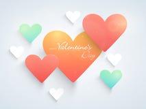 Happy Valentines Day celebration with shiny hearts. Royalty Free Stock Image