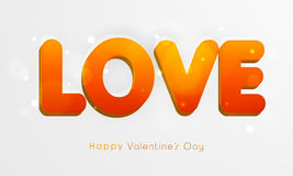 Happy Valentines Day celebration with shiny text. Royalty Free Stock Photography