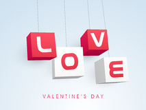 Happy Valentines Day celebration with stylish text. Stock Images
