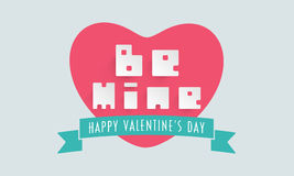 Happy Valentines Day celebration with text Be Mine. Stock Photography