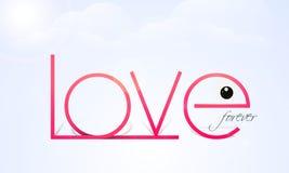 Happy Valentine's Day celebration with text Love. Stock Photo