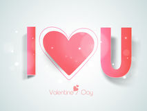 Happy Valentines Day celebration with text. Royalty Free Stock Photos